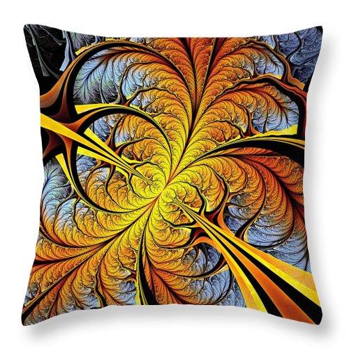 Malakhova Throw Pillow featuring the digital art Tree Perspective by Anastasiya Malakhova