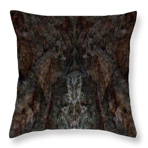 Tree Spirit Throw Pillow featuring the digital art Tree Spirit by Louis Ferreira