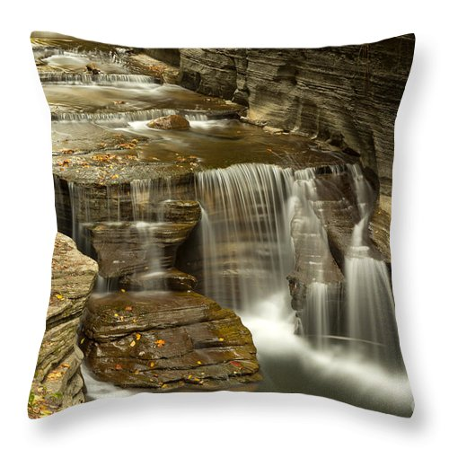 Treman Throw Pillow featuring the photograph Treman At Dusk by Brad Marzolf Photography