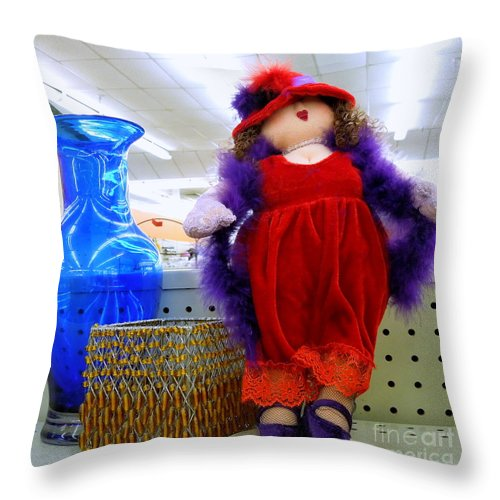 Woman Throw Pillow featuring the photograph Tres Tacky by Renee Trenholm