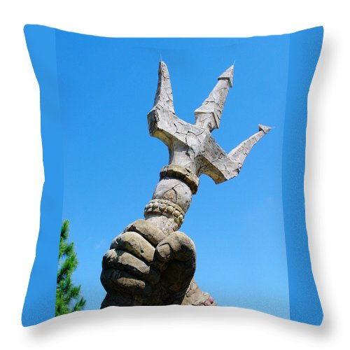 Trident Throw Pillow featuring the photograph Trident by David Nicholls