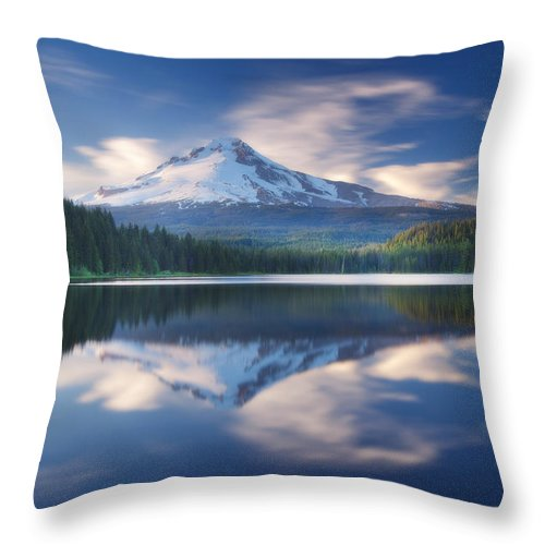 Trillium Lake Throw Pillow featuring the photograph Trillium Lake Escape by Darren White