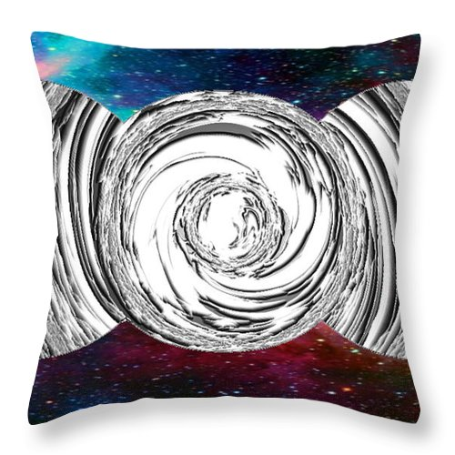 Wicca Throw Pillow featuring the digital art Triple Goddess by Brian Dearth