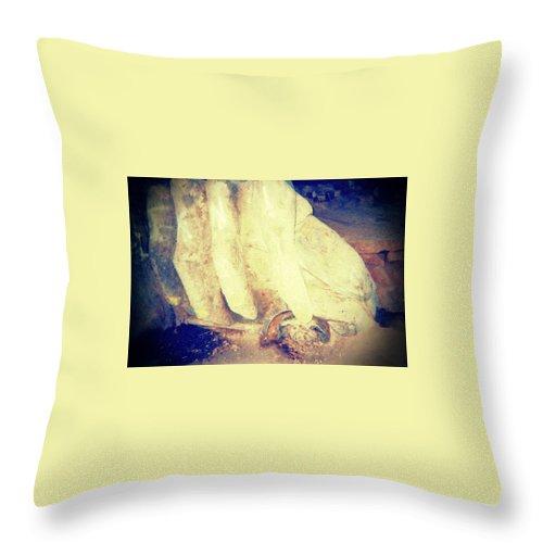 Troll Throw Pillow featuring the photograph Troll by Barbara Christensen