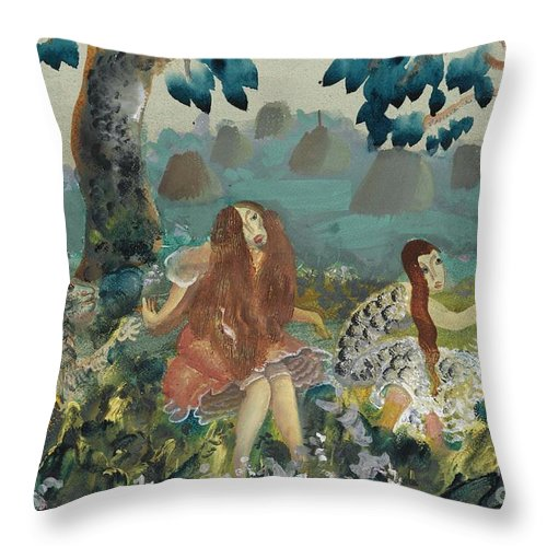 Russia Throw Pillow featuring the painting Troll by Celestial Images
