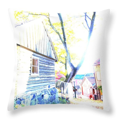 City Throw Pillow featuring the photograph It Was A Sunny Day In The Old City by Hilde Widerberg