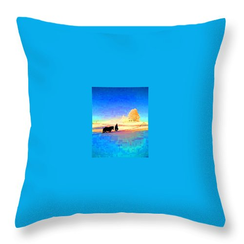 Horse Throw Pillow featuring the photograph A Very Cold Winter Can Give Warmth To Your Heart by Hilde Widerberg