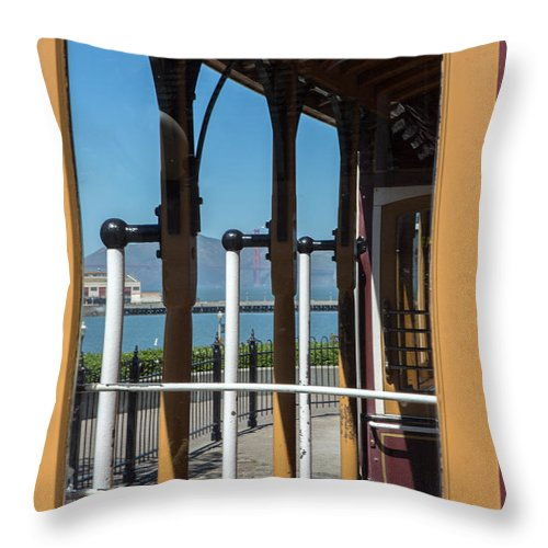 Iris Holzer Richardson Throw Pillow featuring the photograph Trolley 28 by Iris Richardson