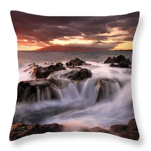 Hawaii Throw Pillow featuring the photograph Tropical Cauldron by Mike Dawson