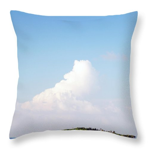 Tropical Tree Throw Pillow featuring the photograph Tropical Island In The Maldives by Subman