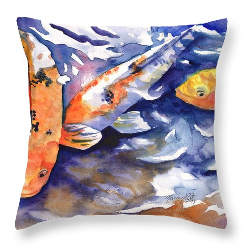 Tropical Koi Fish Throw Pillow For Sale By Marionette Taboniar