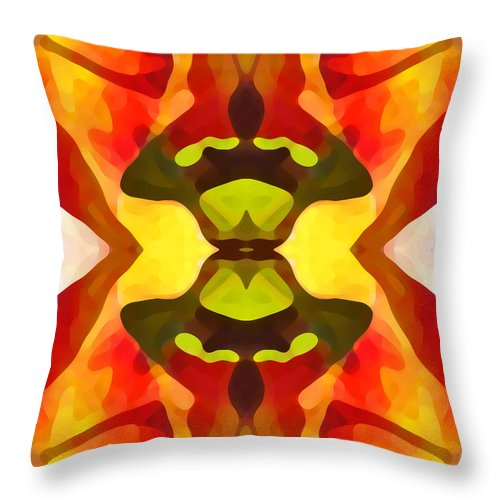 Abstract Throw Pillow featuring the painting Tropical Leaf Pattern 1 by Amy Vangsgard