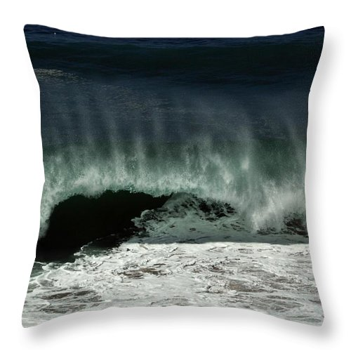 Hurricane Throw Pillow featuring the photograph Tropical Storm Marie 1 by Michael Gordon