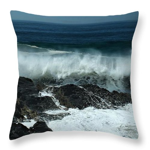Hurricane Throw Pillow featuring the photograph Tropical Storm Marie by Michael Gordon