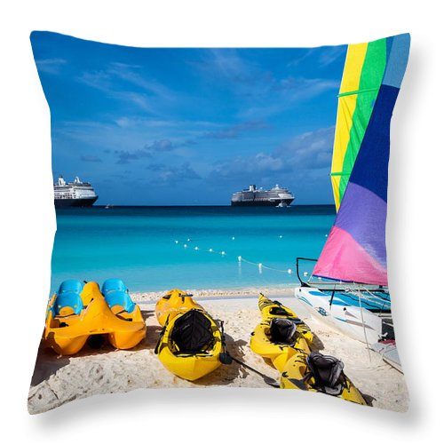 Bathers Throw Pillow featuring the photograph Tropical Toys by Rene Triay Photography