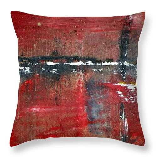 Trouble Throw Pillow featuring the painting Trouble by Michael Stanley