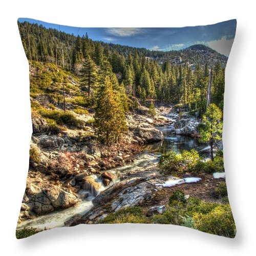 River Throw Pillow featuring the photograph Truckee River by Janna and Kirk Davis