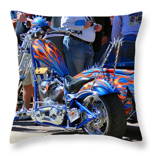 Paint Jobs Throw Pillow featuring the photograph True Colors by Davids Digits