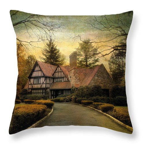 Tudor Throw Pillow featuring the photograph Tudor Road by Jessica Jenney