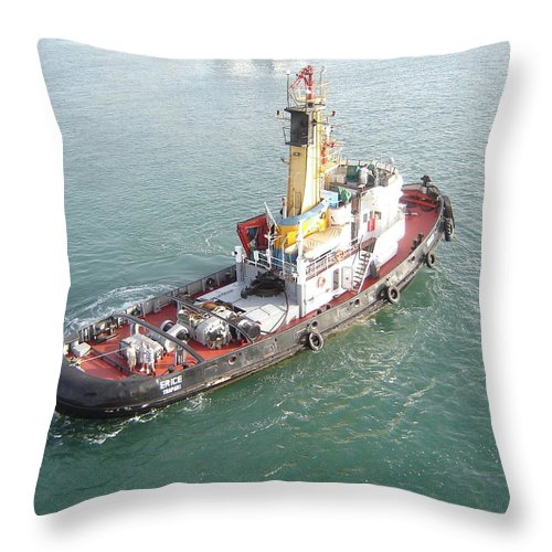 Tug Throw Pillow featuring the photograph Tug Boat by Martin Masterson