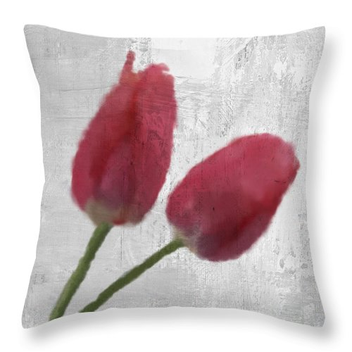 Tulip Throw Pillow featuring the digital art Tulip by Aged Pixel