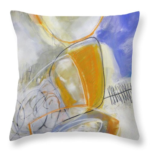 Keywords: Abstract Throw Pillow featuring the painting Tumble Down 3 by Jane Davies