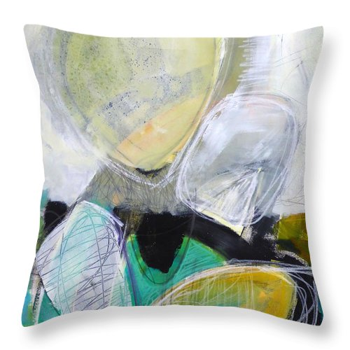 Keywords: Abstract Throw Pillow featuring the painting Tumble Down 4 by Jane Davies