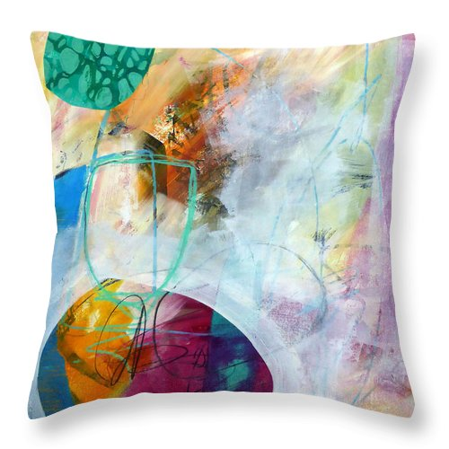 Keywords: Abstract Throw Pillow featuring the painting Tumble Down 5 by Jane Davies