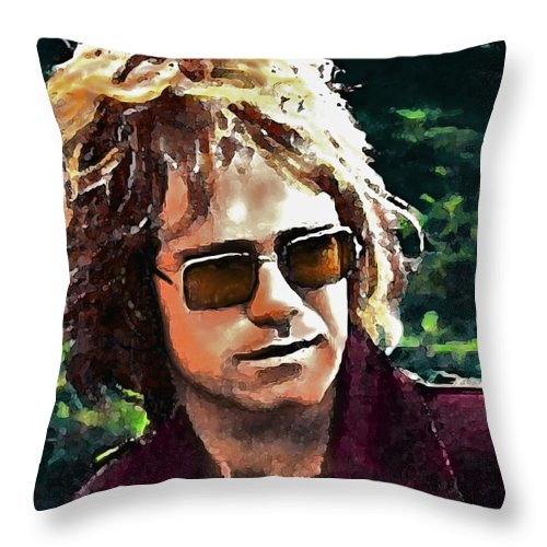 Portraits Throw Pillow featuring the painting Tumbleweed by John Travisano