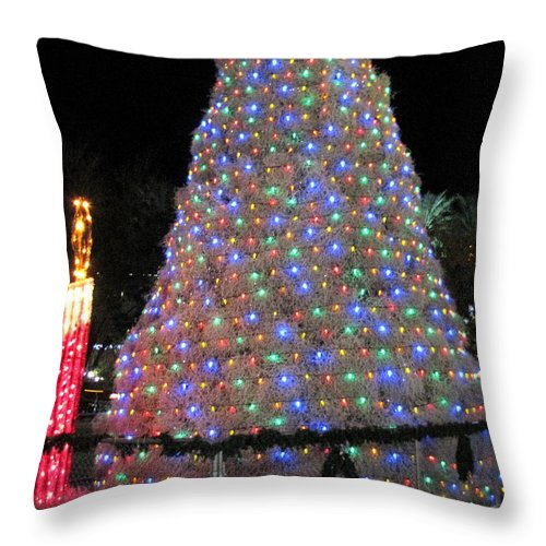 Christmas Tree Throw Pillow featuring the photograph Tumbleweed Christmas Tree by Marilyn Smith