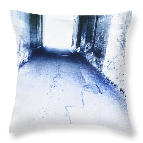 Menacing Throw Pillow featuring the photograph Tunnel by Margie Hurwich