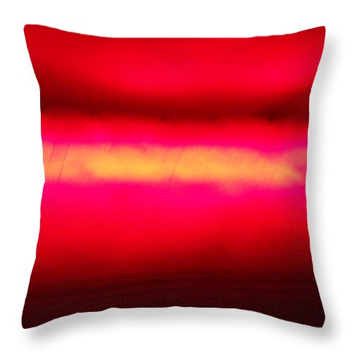 Red Throw Pillow featuring the painting Glossy Red by Dotti Hannum