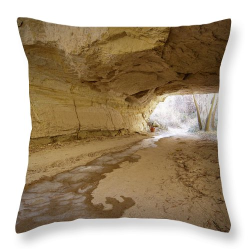 Mineral Throw Pillow featuring the photograph Tunnel by Sandsun
