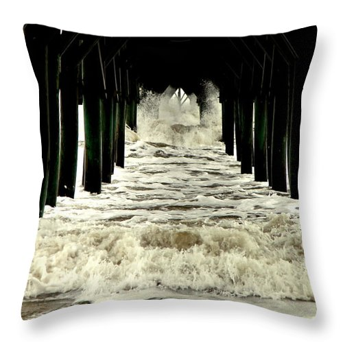 Seascapes Throw Pillow featuring the photograph Tunnel Vision by Karen Wiles