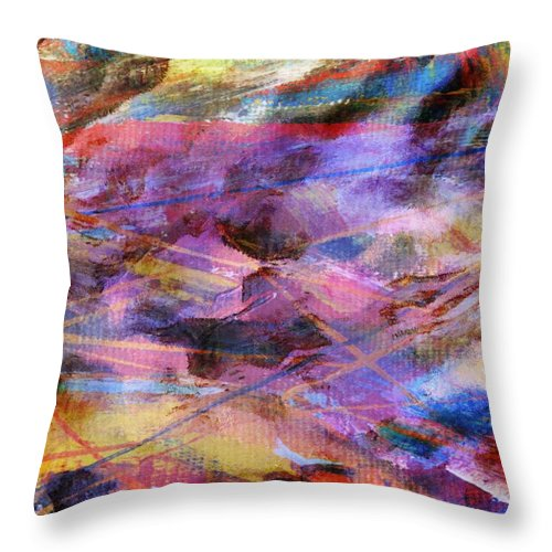Digital Throw Pillow featuring the digital art Turbulence by Carol Sullivan