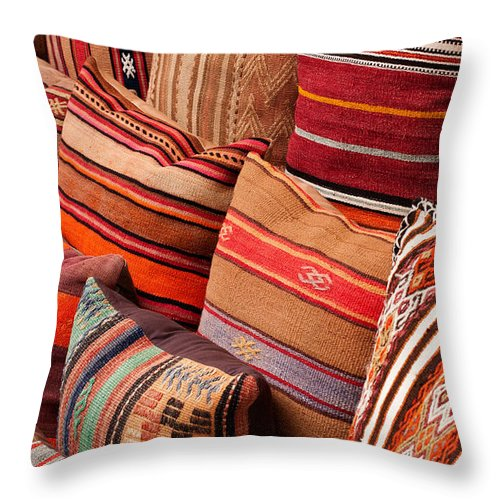 Traditional Throw Pillow featuring the photograph Turkish Cushions 03 by Rick Piper Photography