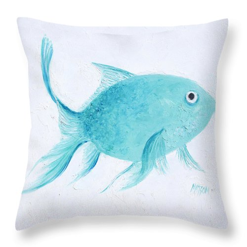 Turquoise tropical fish throw pillow for sale by jan matson for Jan s tropical fish