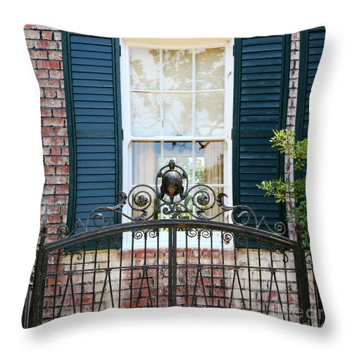 Southern Home Throw Pillow featuring the photograph Turtle Gate by Carol Groenen