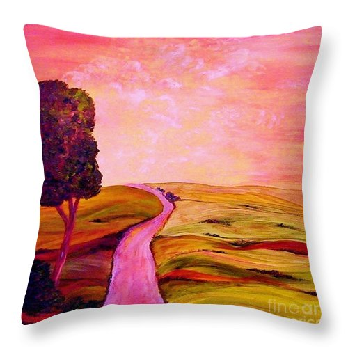 Tuscany Throw Pillow featuring the painting Tuscan Skies ... An Impressionist View by Eloise Schneider Mote