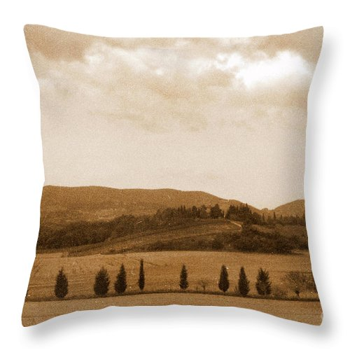 Tuscany Throw Pillow featuring the photograph Tuscany by Irina Davis