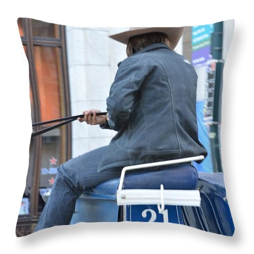 Cowboy Throw Pillow featuring the photograph Twenty One by Sonali Gangane