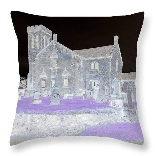 Purple Throw Pillow featuring the photograph Twighlight Kirk by James Potts