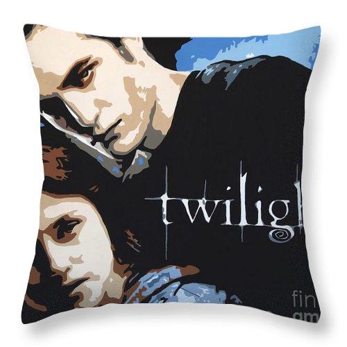 Twilight Throw Pillow featuring the painting Twilight by Hussein El Kaissy