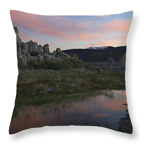 Landscape Throw Pillow featuring the photograph Twilight, Mono Lake, California by John Shaw