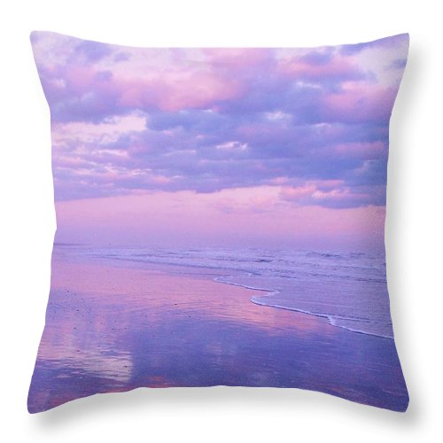 Twilight Throw Pillow featuring the photograph Twilight Reflection Cape May by Eric Schiabor