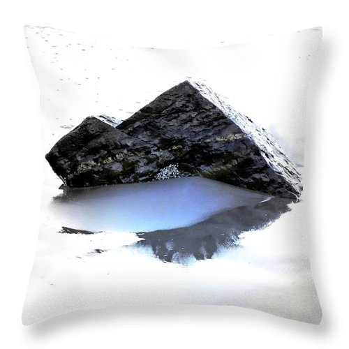 Abstract Throw Pillow featuring the photograph Twin Peaks by Marcia Lee Jones