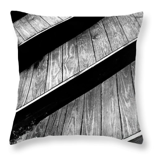 Stairs Throw Pillow featuring the photograph Twisted View by Shawna Rowe