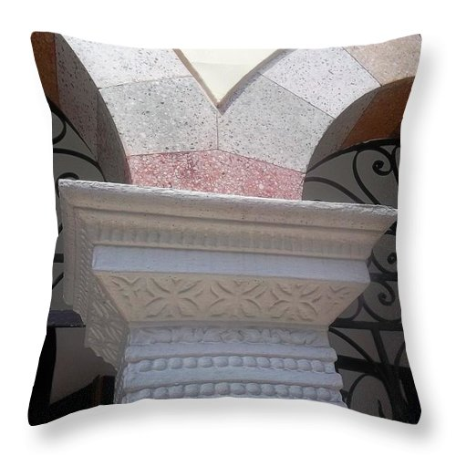 Archs Throw Pillow featuring the photograph Two As One. by Vladimir Berrio Lemm