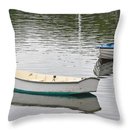 Boat Throw Pillow featuring the photograph Two Boats 2 by Dennis Coates