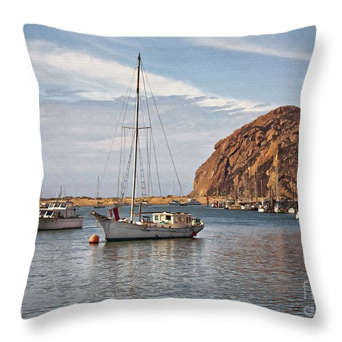Boat Throw Pillow featuring the digital art Two Boats by Sharon Foster